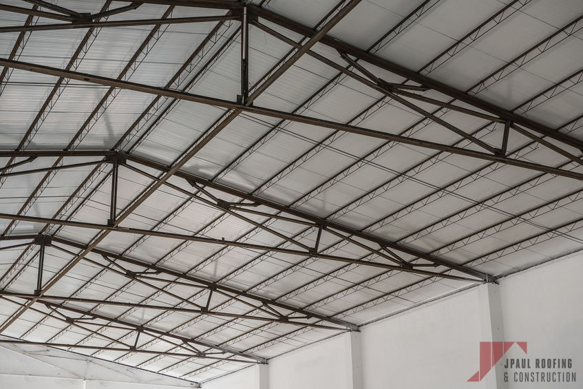 Inside a Commercial Standing Seam Metal Roof Installation