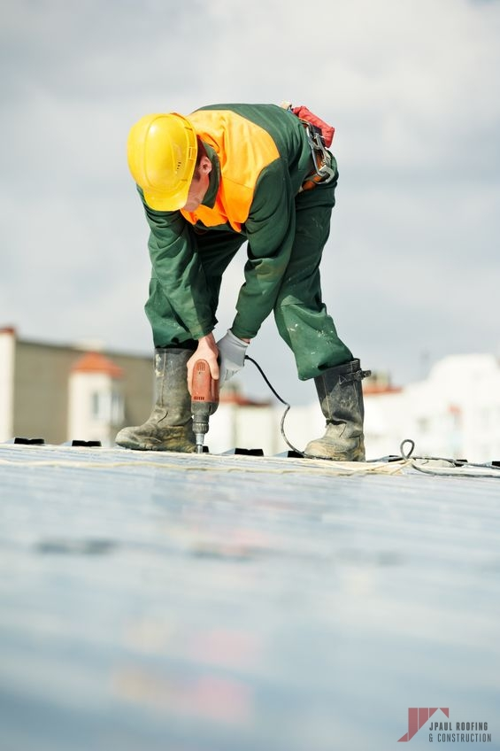 Industrial Roofing Contractor Working