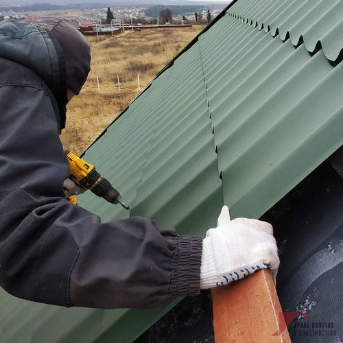 Completing a Metal Roof Installation