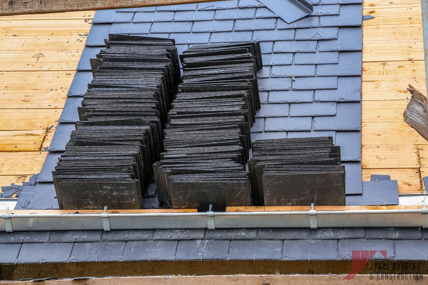 Stack of Slate Tile Premium Roofing
