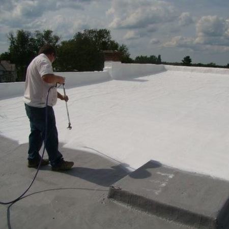 A Roof Coating Being Sprayed On.