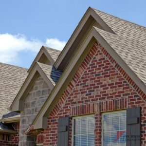 roof line of a house with gables