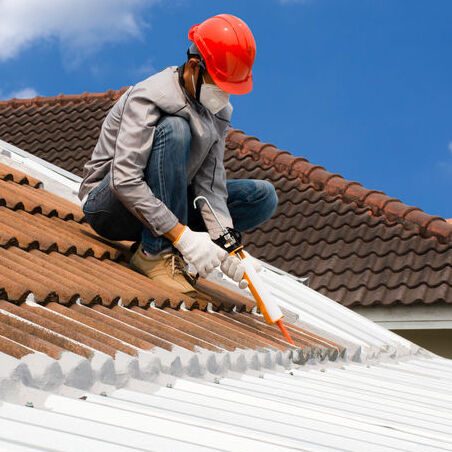 roof repair with silicone