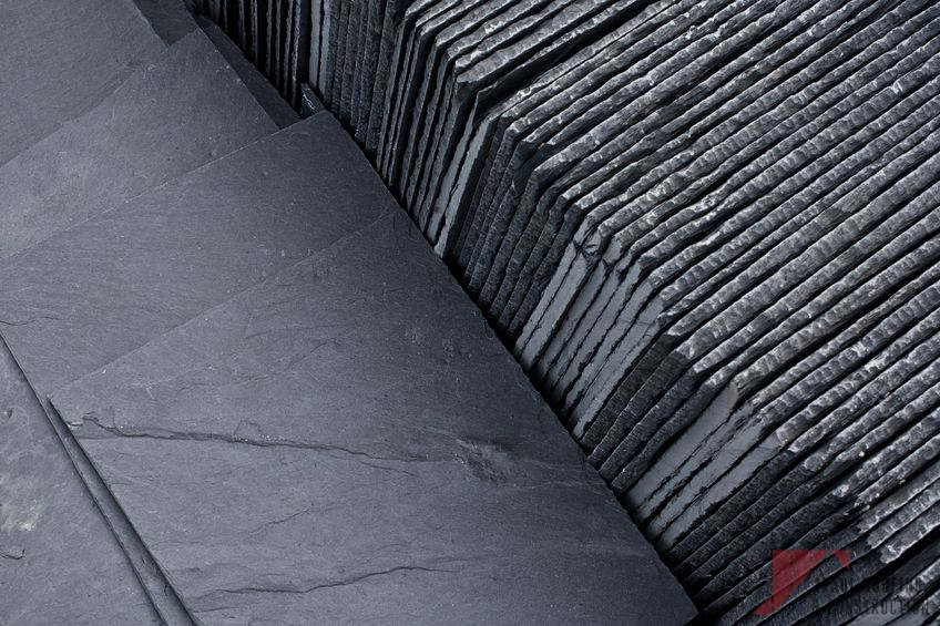 Stack of Slate for Tile Roof Repair