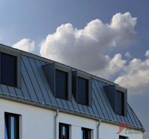 Blue Standing Seam Roof