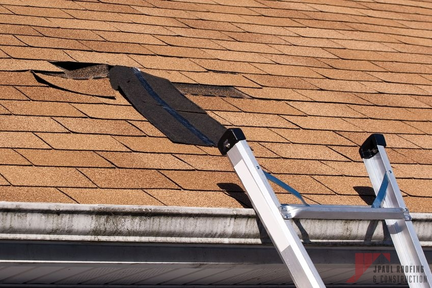 Damaged Roof Needing Roof Wind Damage Repair